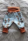 Baby Pumphose Schlupfhose Sweathose Babyhose newborn Gr. 56-68 Herzchen Reh Rehkitz