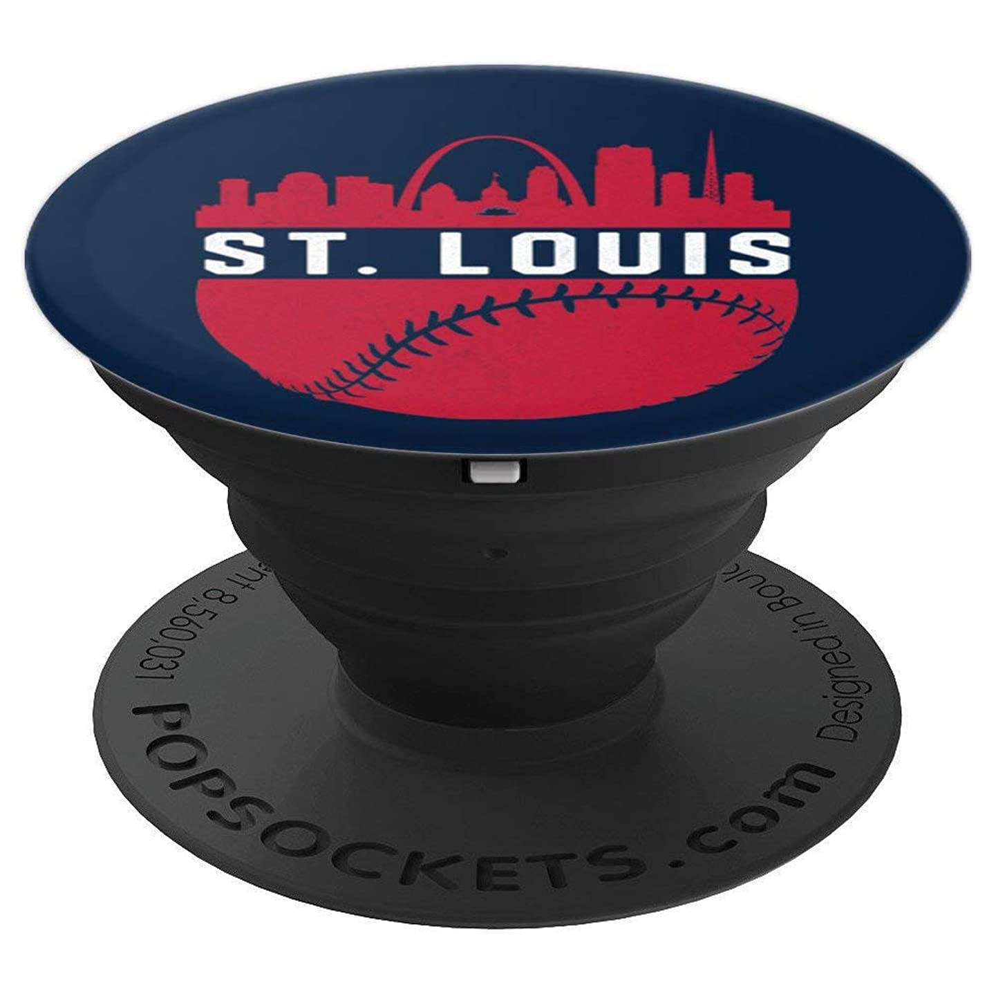 Vintage St. Louis Missouri Skyline Baseball - PopSockets Grip and Stand for Phones and Tablets