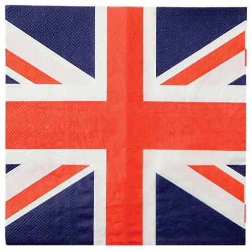 Generique - 20 Serviettes en Papier Royaume-Uni 33 x 33 cm