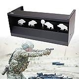HNWTKJ Objetivo Magnético de Rifle con Reinicio, Objetivo de Disparo de Rifle De Aire/Airsoft, para Pistola de Aire y Objetivo Magnético de Rifle con Mecanismo de Reinicio