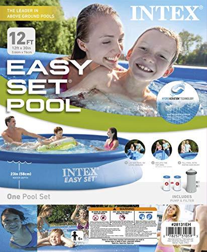 Intex 28131EH 12ft X 30in Easy Pool Set, 12 ft x 30 in, Blue