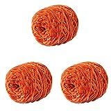 10.58oz 300g Baby Chenille Velvet Yarn Orange Yellow Bulky Vegan Soft Yarn Velvet Knitting Yarn Polyester Blended Cotton Chenille Yarn Hand Knitting Yarn Crochet Thread for Clothing Hat Scarf Blanket