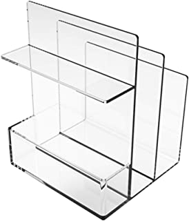 Desktop Bookshelf Desktop Bookshelf Acrylic Multifunction Partition Bookshelf Office Supplies Cosmetic Storage Rack Adjust...