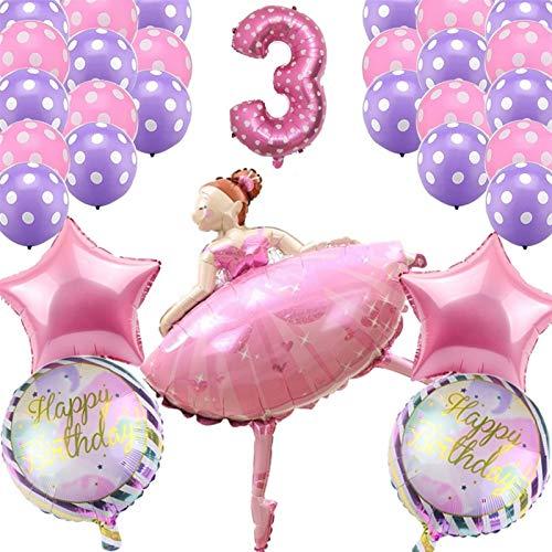 Xssbhsm Balloons 30pcs Dancing Girl Balloons Wedding Ballerina Girl Balloon Children Happy Birthday Party Ballon Decoration Baby Shower (Color : Deep Blue)