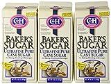 C & H Baker`s Sugar Ultra-Fine Pure Cane Sugar 4 lbs. (Pack of 3)