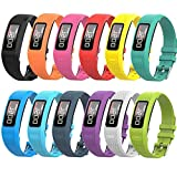 12 Pack - Smilego Bands Compatible with Garmin Vivofit 1/ Vivofit 2, Soft Silicone Breathable Waterproof Watch Band Wristband Strap Replacement for Garmin Vivofit 1/ Vivofit 2 Activity Tracker