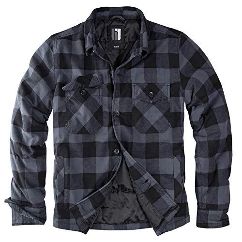 Lumberjacket Rocky schwarz/grau - XXL