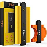 Lock Contour Gauge with Torpedo Level, TWJ 5&10 inch Contour Gauge Duplicator with Lock Profile Gauge Comb Measure Ruler Master Outline Tool Woodworking Cutting Shape Instant Template Laminate Cutter