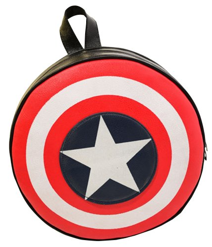 Lily Bell Avengers Captain America Shield Student Backpack Book Bag (big (diameter: 44cm))