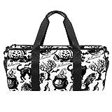 Schizzo Halloween modello Duffel spalla Carry Bag Canvas Travel Bag per palestra sport danza viaggio weekender