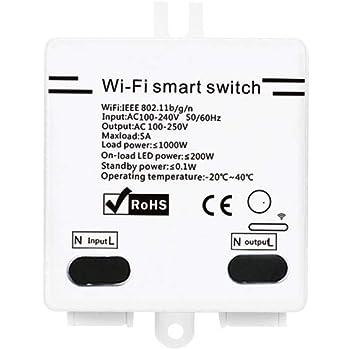 2200W Commutateur sans Fil avec Timer T/él/écommande pour Android//iOS APP Commande pour Appareils /électriques Smart Home Docooler 2 Pcs SONOFF RF Interrupteur WiFi RF 433MHz Compatible avec Alexa 10A
