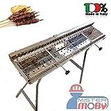 Mistermoby manuel pour Barbecue en acier inoxydable avec système de rotation pour...