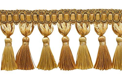 6 Yard Value Pack / Elegant 3 3/4 inch Long Medium and Light Gold Tassel...