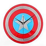 hufeng Orologio da Parete Orologio da Parete America Captain Shield Home Decor Orologi Creative Art Watch Modern Design 12
