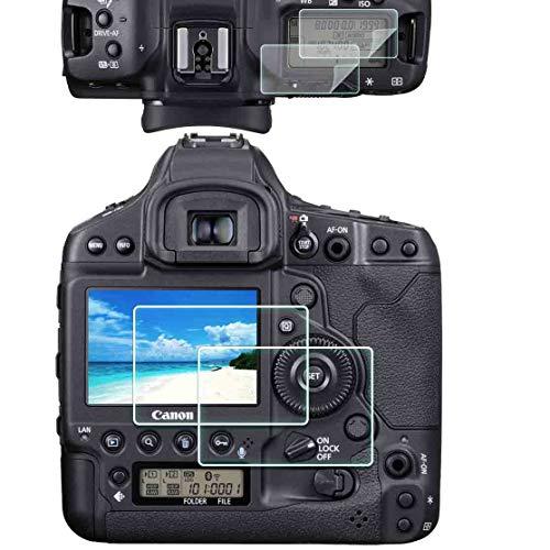 1DX III Top PET + LCD Screen Protector per fotocamera Canon 1DX Mark III [2+2 pezzi], ULBTER 0,3 mm durezza 9H vetro temperato Screen Saver Anti-Scrach Anti-impronte Anti-bolle anti-polvere