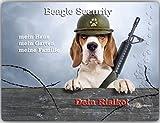 Merchandise for Fans Warnschild - Schild aus Aluminium - Motiv: Beagle Security - Größe: 15x20cm (01)