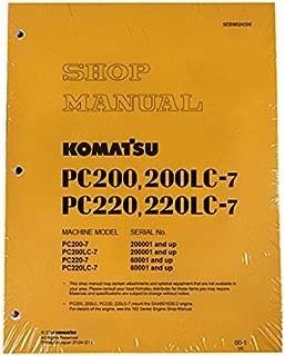 Komatsu PC200-7/PC200LC-7/PC220-7/LC-7 Manual Excavator Workshop Repair Service Manual - Part Number # SEBM024308