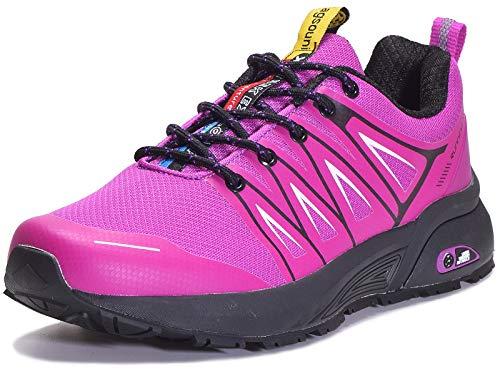 Eagsouni Laufschuhe Herren Damen Traillaufschuhe Sportschuhe Turnschuhe Sneakers Schuhe für Outdoor Fitnessschuhe Joggingschuhe Straßenlaufschuhe, Violett D, 40 EU