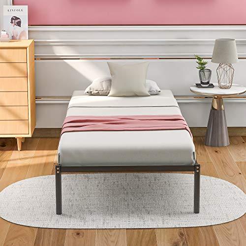 Kays Cadres de lit Sommier à Lattes Lit De Plate-Forme Unique pour Adultes Enfants Adolescents avec Cadre Stable Aucun Outil Requis pour L'assemblage - 200x90cm