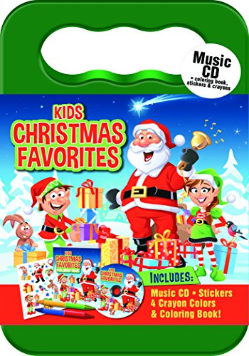 KIDS CHRISTMAS FAVORITES CD (Activity Kit with Carrying Case, Stickers, Crayons and Coloring Book)