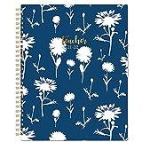 Agenda Profesor 2021 2022 - Planificador Semanal Mensual Julio 2021 hasta Junio 2022 20 x 25 cm Crisantemo Blanco Azul