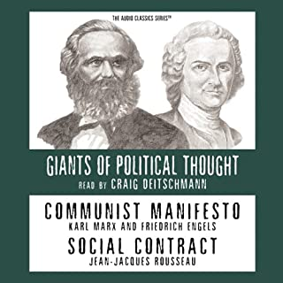 Communist Manifesto and Social Contract (Knowledge Products) Giants of Political Thought Series  cover art