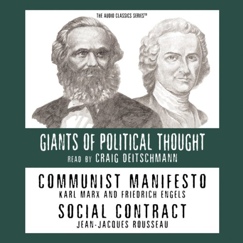Communist Manifesto and Social Contract (Knowledge Products) Giants of Political Thought Series audiobook cover art