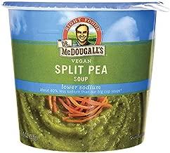 Dr. McDougall's Right Foods Vegan Split Pea Soup, Light Sodium, 1.9 oz Cups