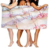 "31"" X 51"" Absorbency Bath Towel Origami Hanging Crane Large Beach Bath Sheet"