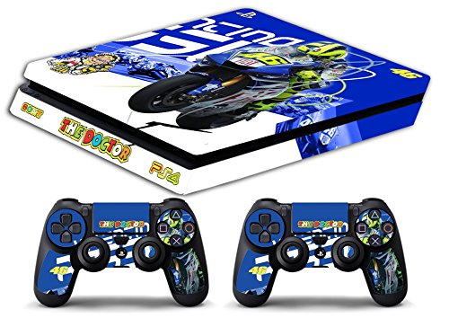 Skin PS4 SLIM - VALENTINO ROSSI THE DOCTOR 46 - Limited Edition Decal étuis de protection pour faceplates Playstation 4 Sony BunDLE