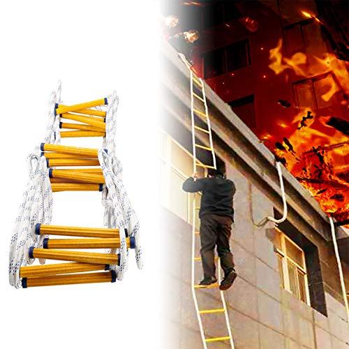 Rope Ladder Escalera Cuerda Emergencia, Resina De Seguridad con Ganchos Escalera De Cuerda De Emergencia Fácil De Usar Rescate Rápido para Casas con Ventana XUYAO (Size : 30m)