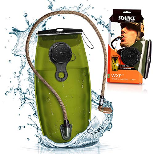 Source Hydration Bladder WXP - 3 Liter (100oz) Water Bladder with High Flow Storm Valve - Featuring All Hydration Technology Advantages (4305530003)