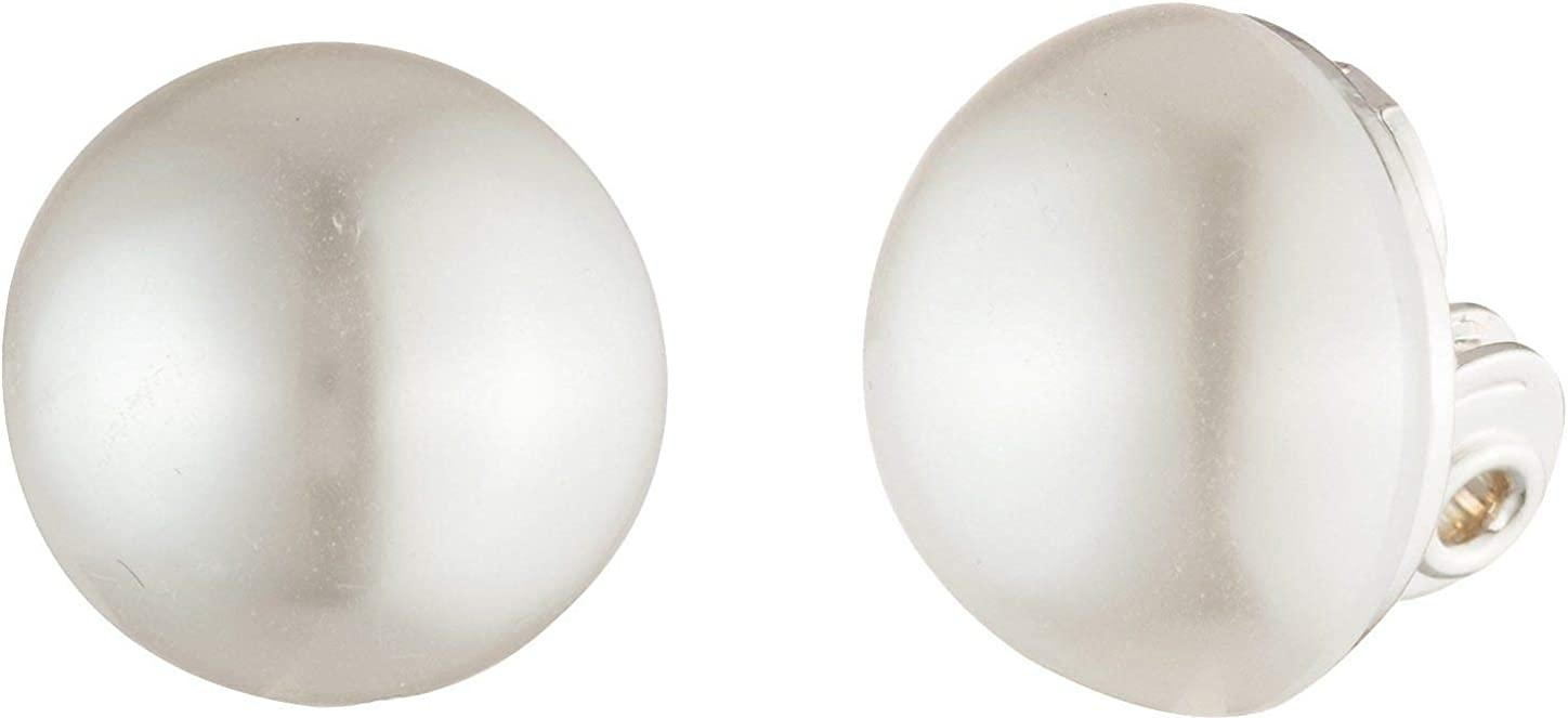 You're Invited Faux Pearl Clip On Earrings One Size Pearl white