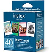 Fujifilm Instax Mini Variety Film Value Pack 40 Count (600021108)