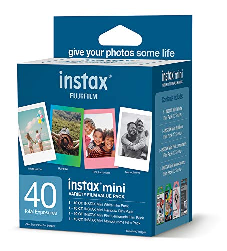 Fujifilm Instax Mini Variety Film Value Pack 40 Count (600021108)