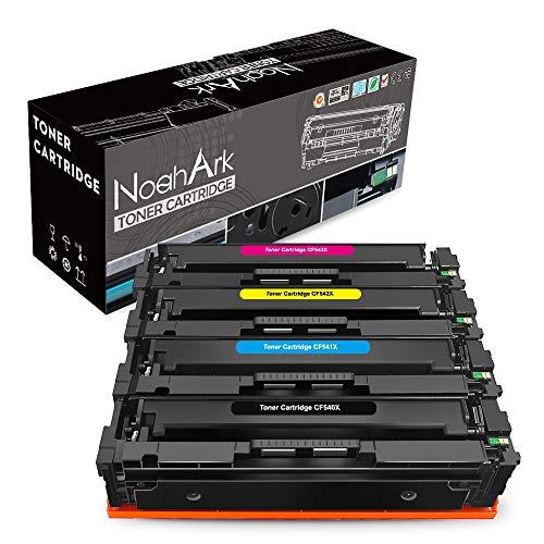 NoahArk compatibel voor HP 203X 203A CF540X CF541X CF542X CF543X CF540A tonercartridge werk voor HP Color LaserJet Pro M254dw M254nw MFP M280nw M281fdn M281fdw printer (zwart cyaan magenta geel, 4-pack)