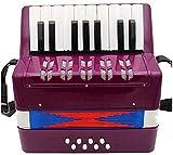 Kinder Akkordeons Kinder Akkordeon 17 Keys Knopf Akkordeon Spieluhr einfach zu spielen Kid...