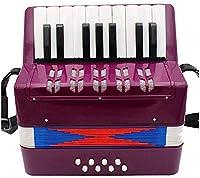 キッズアコーディオン子供アコーディオン17キーボタンアコーディオンミュージカル玩具5歳以上の子供のための子供のための子供の楽器を演奏するのは簡単な子供の頃の開発アコーディオン(色:緑、サイズ:23x10x23cm) Jialele (Color : Purple, Size : 23x10x23cm)