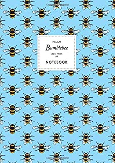 Bumblebee Notebook - Lined Pages - A4 - Premium: (Sky Blue Edition) Fun notebook 192 lined pages (A4 / 8.27x11.69 inches /...