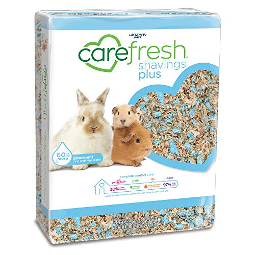 Carefresh Shavings Plus Pet Bedding, 60-Liter, Natural, Blue (100262)