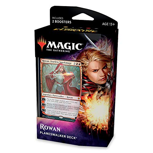 Magic: The Gathering Throne of Eldraine Rowan, Fearless Sparkmage Planeswalker Deck | Ready-to-Play | 60- Card Starter Deck