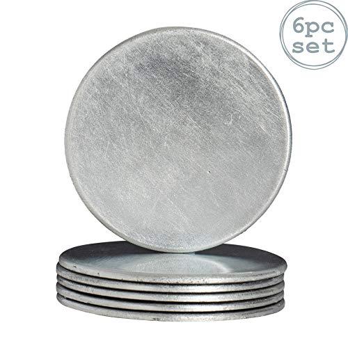 Argon Tableware Untersetzer aus Silber - 6er Packung