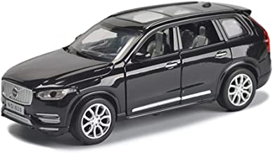 LBYMYB Model Car Volvo XC90 Off-Road Vehicle SUV1:32 Simulation Die-Casting Alloy Toy Car Sound and Light Pull Back Model Car (Color : Black)