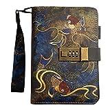 Interlocking Antike Tagebuch/Retro-Lose-Blatt-Notebook/Laptop klassisch, retro, leerer Notebook Tagebuch Notebook Reise-Tagebuch Skizzenbuch,B -