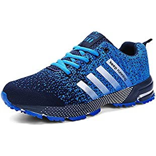 Kuako Men Women Running Shoes Air Trainers Fitness Casual Sports Walk Gym Jogging Athletic Sneakers:Cnsrd