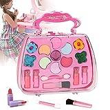 Juguetes de seguridad de belleza,Maquillaje Set Girls Toys con bolsa de cosméticos,Juego de simulación seguro y no tóxico Princesa para niña Herramientas cosméticas, Kit de maquillaje de regalo