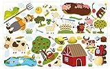 dekodino® Adesivo murale fattoria paesaggio vivaismo decorazione murale