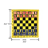 Ajedrez Ajedrez magnético, Tablero de ajedrez Suave para enseñar, Conjunto de ajedrez magnético Grande, Tela de ajedrez Conveniente y portátil ajedrez magnetico (Color : Chess Pieces+Chess Cloth)