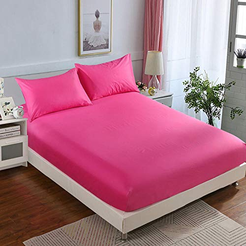 N / A King Size Bed Sheets,Non-slip mattress protection cover, king bed cover, apartment fitted sheets-PinkA_150×200cm