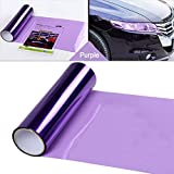 LEIWOOR 12 X 24 in Auto Car Tint Headlight Taillight Fog Light Vinyl Smoke Film Sheet Sticker Cover Automobiles Decal Car Styling (Purple)